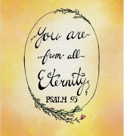 Psalm 93 - Peach/Yellow Sticker