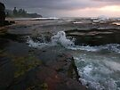 in the morning dark there be wet rocks to worry about by Juilee  Pryor