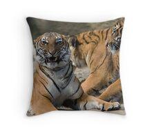 Malayan Tiger Cubs Throw Pillow
