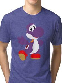 Peace Yoshi - Purple Tri-blend T-Shirt
