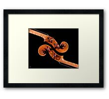 Interlocking Scrolls Framed Print
