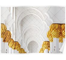 Sheik Zayed Mosque Archways Poster
