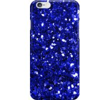 Royal Blue Sparkly Glitter Confetti iPhone Case/Skin