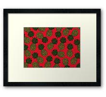 PINEAPPLE - RED Framed Print