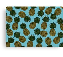 PINEAPPLE - BLUE Canvas Print