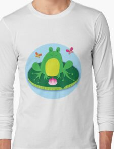 Frog on a Lily Pad Long Sleeve T-Shirt