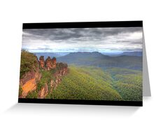 Three Sisters - Blue Mountains Greeting Card