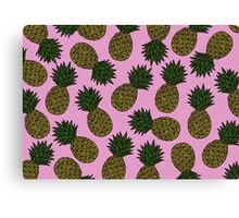 PINEAPPLE - PINK Canvas Print