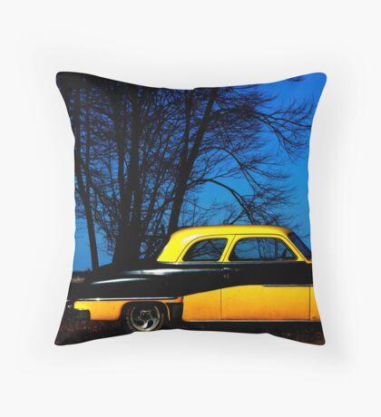 Bumble Blue Throw Pillow