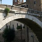 Ponte Fabricio across the Tiber River, Rome by BronReid