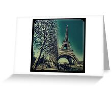 Retro Eiffel Tower Greeting Card