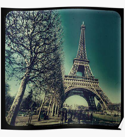 Retro Eiffel Tower Poster