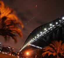 Sydney Harbour Bridge from North Sydney at Night by boblemur