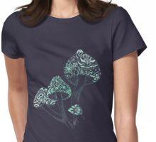 Mushroom Arabesque Womens Fitted T-Shirt