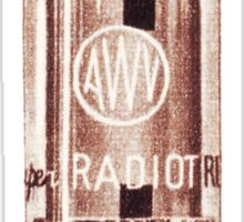 Vintage Radio Valve (from the Vintage Magazine series)  Sticker