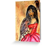 I hear only the songbirds Greeting Card