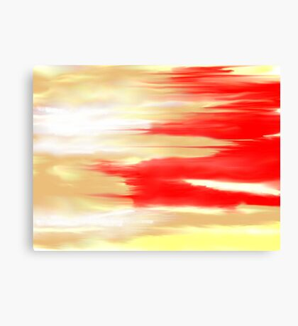 Red Japanese Dragon Abstract Canvas Print
