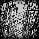 Workers and Iron Poles by RONI PHOTOGRAPHY