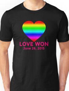 LOVE WON  Marriage Equality Commemorative Unisex T-Shirt