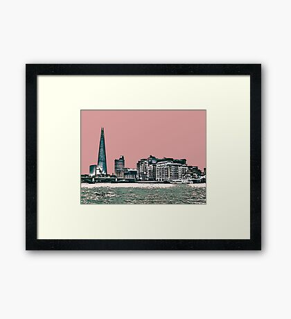 London Skyline in a shade of red! Framed Print