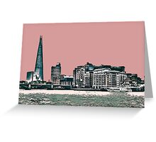 London Skyline in a shade of red! Greeting Card