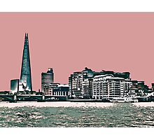 London Skyline in a shade of red! Photographic Print