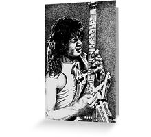 Eddie VanHalen Greeting Card