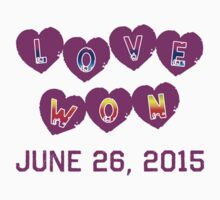 LOVE WON Commemorative Baby Tee
