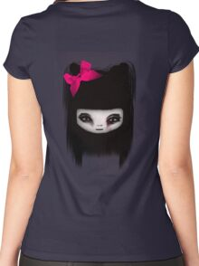 Little Scary Doll Women's Fitted Scoop T-Shirt