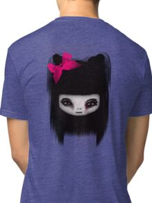 Little Scary Doll Tri-blend T-Shirt