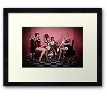 Holding all the aces - The Corruption of youth Framed Print