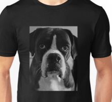 Arwen's Portrait in Black and White  -Boxer Dogs Series- Unisex T-Shirt