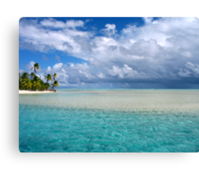 storm in paradise Canvas Print
