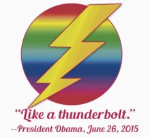 Like a Thunderbolt Gay Marriage Commemorate by Greenbaby