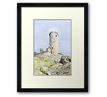 The tower at Piégut, France Framed Print