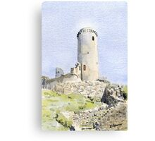 The tower at Piégut, France Canvas Print