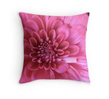Pink Waves Throw Pillow