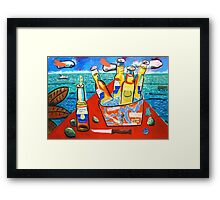 Bucket of Beer Framed Print