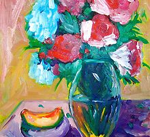 Red and Blue Flowers by Sonny  Williams