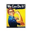 Rosie the Riveter classic wartime image by gshapley