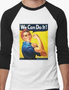 Rosie the Riveter classic wartime image Men's Baseball ¾ T-Shirt