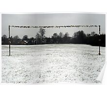 Snowpost - Goal post in the snow Poster