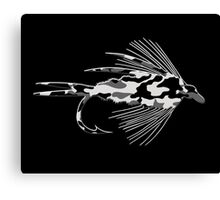 Black Camo Fly - Art Canvas Print