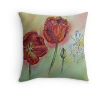 Transitions - Tulips Throw Pillow