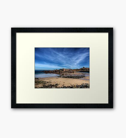 Across the bay to Fort Corblets Framed Print