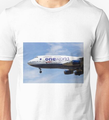One World Boeing 747 Unisex T-Shirt