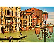 Venice Street Lamp Photographic Print