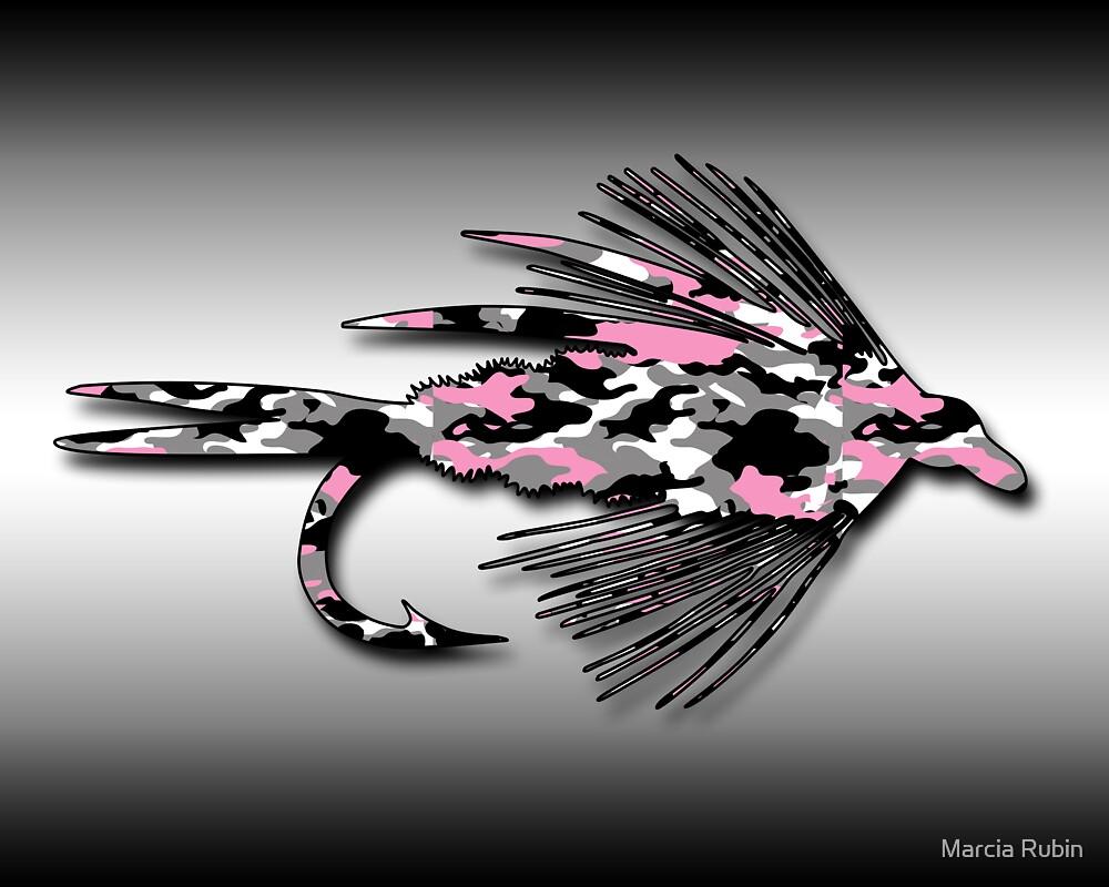 Pink Camo Fly - Art by Marcia Rubin