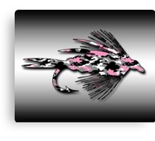 Pink Camo Fly - Art Canvas Print