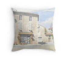 """Boulangerie """"Pain d'Autrefois"""" at Javerlhac, France Throw Pillow"""